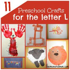 11 Crafts for Preschool: The Letter L - The Measured Mom