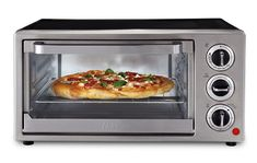 Prepare breakfast, lunch, dinner or snacks in this handy convection toaster oven from Oster. It toasts, bakes and broils a variety of foods. Small Kitchen Appliances, Kitchen Items, Kitchen Countertops, Kitchen Gadgets, Kitchen Things, Kitchen Decor, Essential Kitchen Tools, Stainless Steel Oven, Middle Eastern Recipes