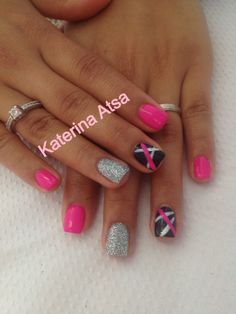 Permanent Color  ❤❤ #pink #silver #glitter #black #stripes #nails #nailgasm #nailgasm #nailporn #nailsmag #nailartist #nailartwow #nailsoftheday Silver Glitter, Black Stripes, Nail Designs, Nails, Color, Beauty, Finger Nails, Silver Sequin, Ongles