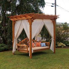 A Furniture Co. Cedar Pergola Swing Bed Stands - 700C, 701C, 702C