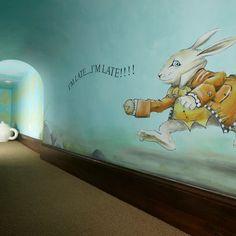 Edina, Hilldale Neighborhood Custom Designed Home by Schrader & Companies - Alice in Wonderland Playroom