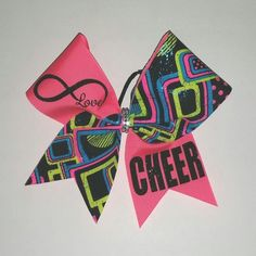 Infinity Love Cheer Bow by Just Cheer Bows  #Justcheerbows #bows #cheerbows #cheer #cheerleading