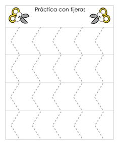 Actividades infantil Conjunto de fichas Práctica con tijeras -Orientacion Andujar Scissor Practice, Cutting Practice, Scissor Skills, Cutting Activities, Motor Activities, Kindergarten Activities, Box Patterns, Early Childhood Education, Working With Children