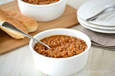 Baked Beans - Mother Thyme (Tastes like Bush's)