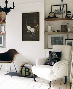 White and Black Sitting Room