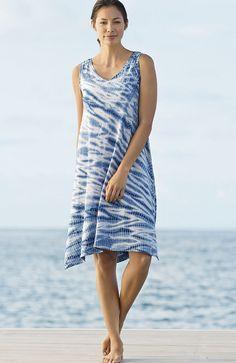 Pure Jill high tide tank dress | www.jjill.com