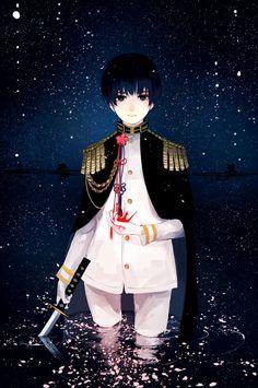 Shokumura, Axis Powers: Hetalia, Japan, White Pants, Black Outerwear, Reflection