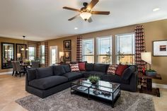 New Homes in Austin, TX - Retreat at Tech Ridge E 2898 Living and Dining Area
