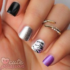 Easy lines on nails  #nails