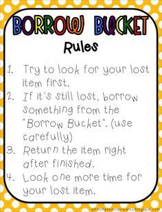 Borrow Bucket Rules