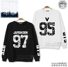 Kpop BTS Bangtan Boys Mood for Love K-pop BTS Suga Jimin Floral Letter Printed Fans Supportive Sweatshirt Plus Size Tracksuits Bts Hoodie, Bts Shirt, Jumper Outfit, Sweater Jacket, Rap Monster, Kpop Fashion, Korean Fashion, Merchandise Shop, Jung Kook