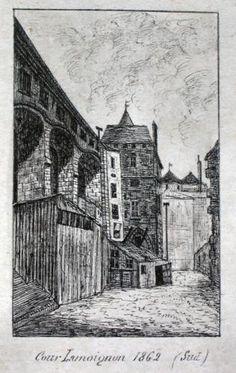 [le Vieux Paris] Cour Lamoignon, 1862 | Paris Musées