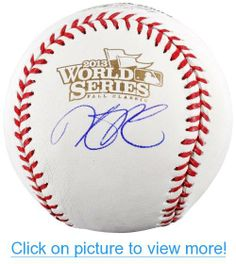 Autographed Dustin Pedroia Baseball - World Series Logo - Mounted Memories Certified - Autographed Baseballs