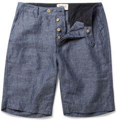 YMCStraight-Leg Linen-Chambray Shorts