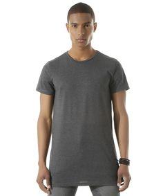 Camiseta Longa com Zíper Cinza Mescla - cea