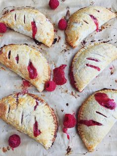 vanilla bean, red berry and rhubarb hand pies