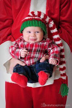 Christmas Card Idea www.babyfacephoto.com