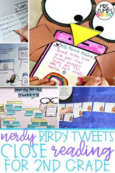 In this post, I share my favorite Nerdy Birdy Tweets close reading activities for 2nd grade. I include a Nerdy Birdy anchor chart, Nerdy Birdy craft, and Nerdy Birdy writing prompts for 2nd grade students.