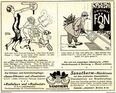 Werbung - Original-Werbung/ Anzeige 1925 - FÖN / SANOTHERM HEIZKISSEN / SANITAS BERLIN - ca. 140 x 110 mm