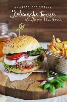 YYY - YummY fridaY - hecookssheshoots Italienische Burger und selbstgemachte Pommes - Restyling eines Knorr Klassikers