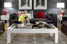 Jane Lockhart Gray/Red Living room modern living room