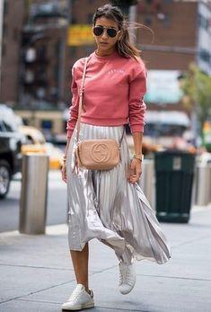 """Résultat de recherche d'images pour """"jupe plissée argentée"""""""