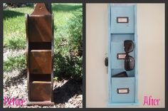Mail sorter, before and after