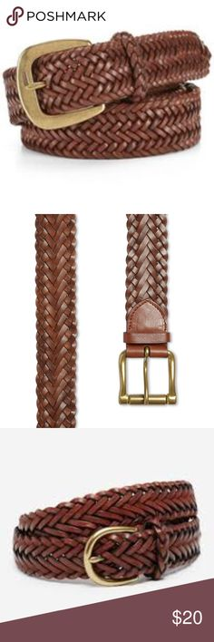"""Ralph Lauren Brown Braided Belt NWOT Polo Ralph Lauren """"Savannah"""" Leather Braided Belt New Without Tags  Intricately braided belt in rich leather with a dull gold buckle for a classic preppy look. Sold out online!  1 1/2"""" W  Listed at Bloomingdales for $85- this is the same belt, brand new!  Leather/metal. Imported Polo by Ralph Lauren Accessories Belts"""