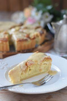 Bratapfelkuchen mit Mandeln und Ahornsirup Zimtsauce - Baked Apple Almond Tarte with maple syrup cinnamon sauce - schnell gemacht