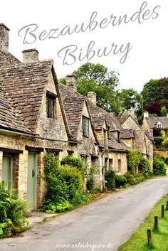 Kleine Cottages, enge Straßen und sanfte Hügel. Die Vorgärten strahlen in saftigem Grün, Blumenranken zieren die rustikalen Türrahmen. Ein Ort, der verwunschener nicht sein könnte: Bibury im Herzen Englands.