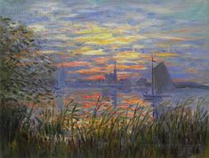 Marine View - Sunset by Claude Monet
