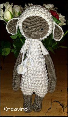 LUPO the lamb made by Kreavino / crochet pattern by lalylala