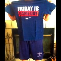Nike Loose Fit Tee Size Small Blue Nike *Friday is Game Day* Size Small  Loose Fit Tee Nike Tops