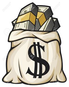 Money Bag With Dollar Sign Vector Illustration Money Bag Filled ...