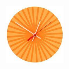 Clockburst Orange by Chroma Lab   #Clock
