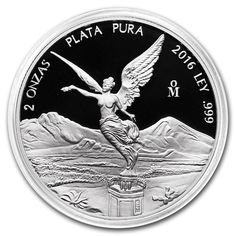 Mexican Libertad 2oz Proof Silver Coin encapsulated Mexico 2016 collectible