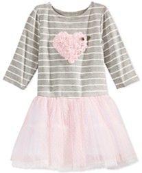 Marmellata Little Girls' Heart & Stripes Tutu Dress