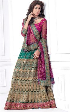 Latest Pink color Indian Wedding Lehenga Choli INHSPXIC8005C - www.indianwardrobe.com