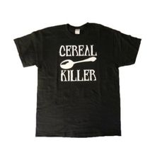 MyTees Cereal Killer Funny Adult T-shirt - Large-Black T Shirt Factory, Slogan Tops, Cereal Killer, T Shirt Time, Geile T-shirts, Word Design, Well Dressed Men, Funny Tees, Shirt Shop