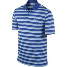 Nike Golf Tech Vent Stripe Polo - Lyon Blue/Clearwater/Wolf Grey