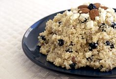 Quinoa w/blueberries, feta,  almonds