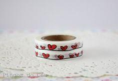 Heart Washi Tape Scrapbooking Gift Wrapping by pingosdoceu