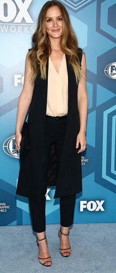 Leighton Meester in Michael Kors attends FOX 2016 Upfront Arrivals. #bestdressed