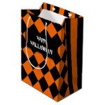 Halloween mix pattern medium gift bag #halloween #happyhalloween #halloweenparty #halloweenmakeup #halloweencostume