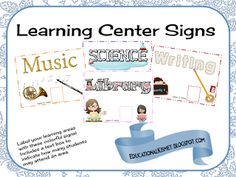 Educational Kismet : Learning Area Signs