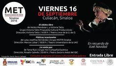 Actividades de la Muestra Estatal de Teatro 2016, para el día viernes 16 de septiembre.
