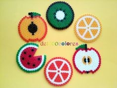 Hama Bead Fruit (coasters?)