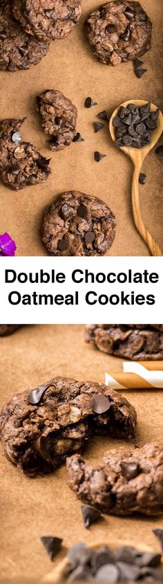 Double Chocolate Oatmeal Cookies will become your ultimate cookie recipe. Wonderfully chocolaty and chewy! Perfect crowd pleaser too! Learning these have oatmeal, everyone wants to eat more!