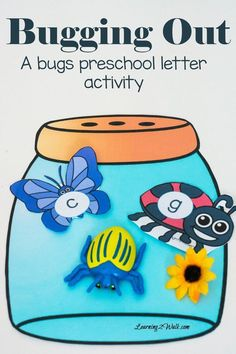 Its time to get buggy and try this fun bug preschool letter activity. Simply print, cut out the cards, choose your players and play! Preschool Bug Theme, Preschool Letters, Preschool Learning Activities, Fun Learning, Teaching Resources, Preschool Class, Classroom Crafts, Preschool Lessons, Kindergarten Literacy