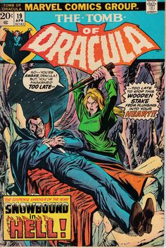 Tumba de Dracula #19 - abril 1974 tema - Marvel Comics - gene colan